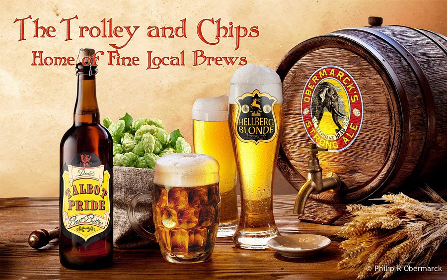 Trolley & Chips Poster