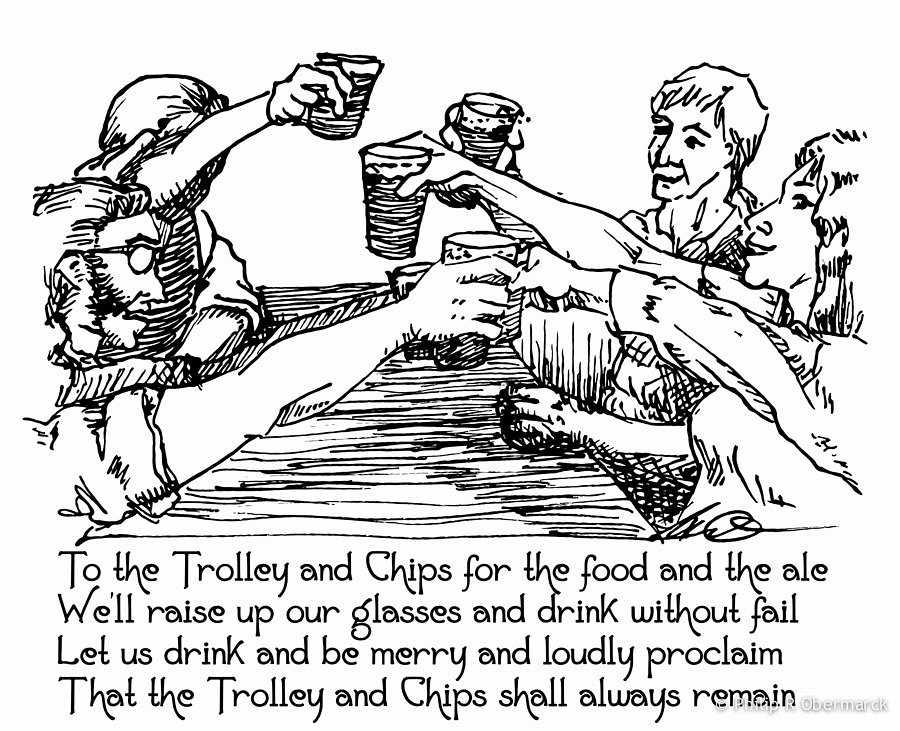 Trolley & Chips Verse Illustration 1